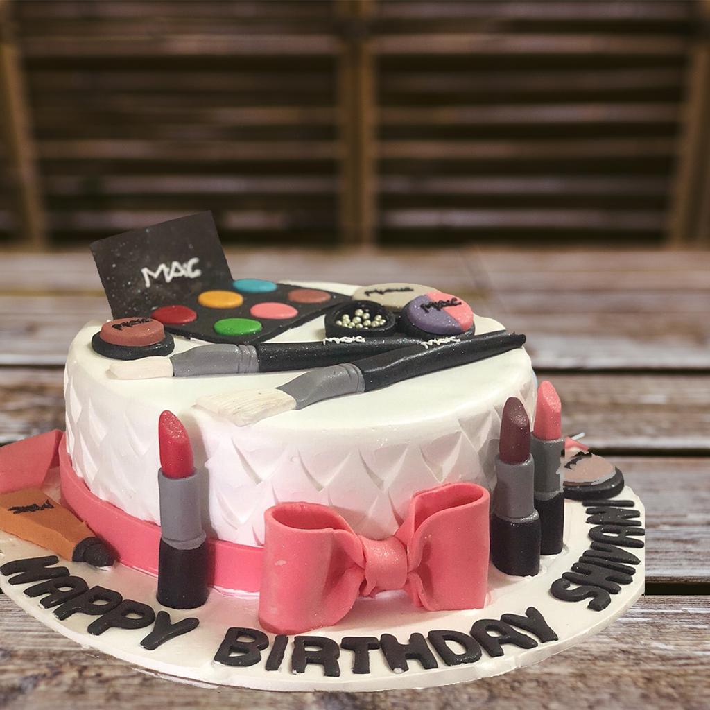 Makeup Kit Birthday Cake